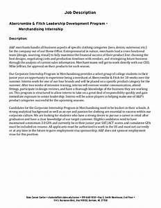 Undergraduate student cover letter example abercrombie for Cover letter for leadership development program