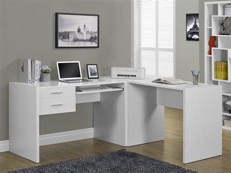 white hollow computer desk from michael anthony furniture