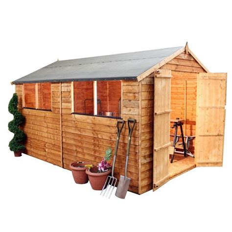 Argos 6 X 10 Shed by Buy Mercia Garden Overlap Apex Wooden Garden Shed 10 X