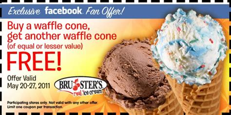 brusters bg waffle cones southern savers