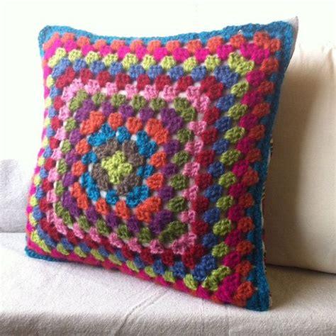 crochet throw pillow crochet throw pillow colorful buzzardfilm adding