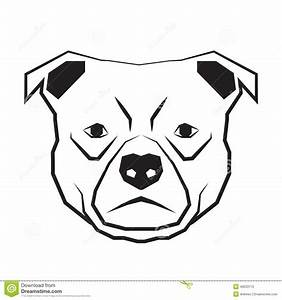 Dog Face Black And White Drawing Contour Stock Vector ...