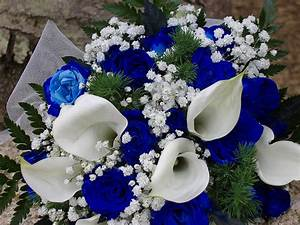 blue and white wedding flowers | iPunya
