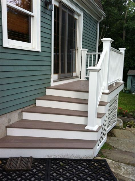 patio stairs ideas  pinterest deck steps