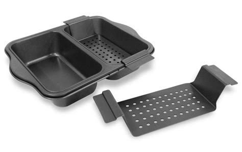 chicago metallic dual meatloaf pan cutlery