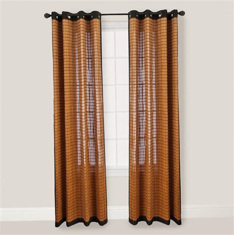 bamboo curtain panels  home design ideas