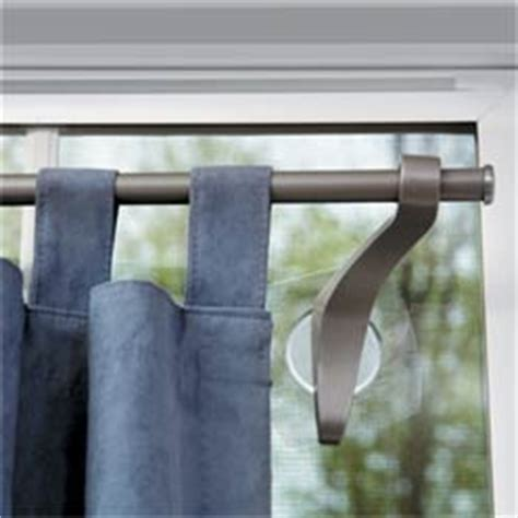 suction cup curtain rod stick up curtain hardware betterimprovement