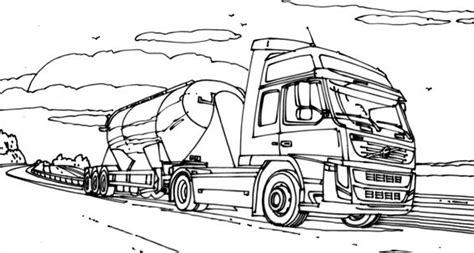 Kleurplaat Volvo Vrachtwagen kleurplaten vrachtwagens volvo zoeken