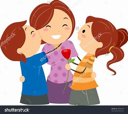 Kiss Clipart Mother Mom Greeting Illustration Vector