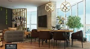 Moderne Wohnungseinrichtung Ideen : einrichtungsbeispiele vom russischen designstudio hot walls ~ Markanthonyermac.com Haus und Dekorationen
