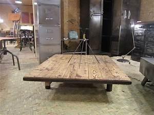 Table Bois Et Fer : table basse en fer et bois id es de d coration ~ Premium-room.com Idées de Décoration