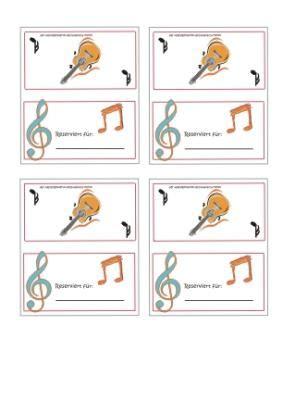 malvorlagen ausmalbilder tischkarten musik vorlagen fr