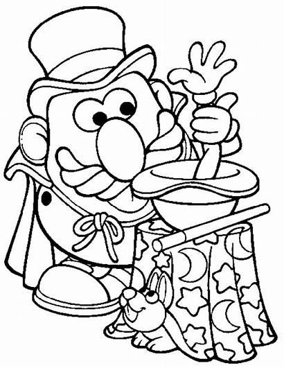 Coloring Magic Pages Mr Potato Head Magician
