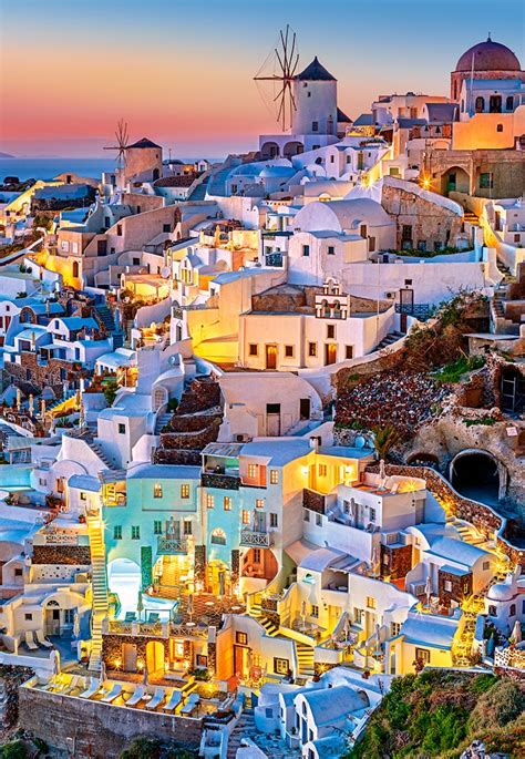puzzle santorini lights castorland   pieces