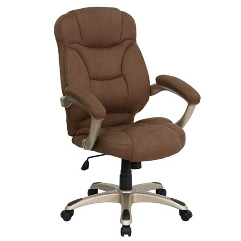 flash furniture high back brown microfiber upholstered