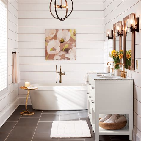 glam bathroom bathrooms shop by room at the home depot Farmhouse