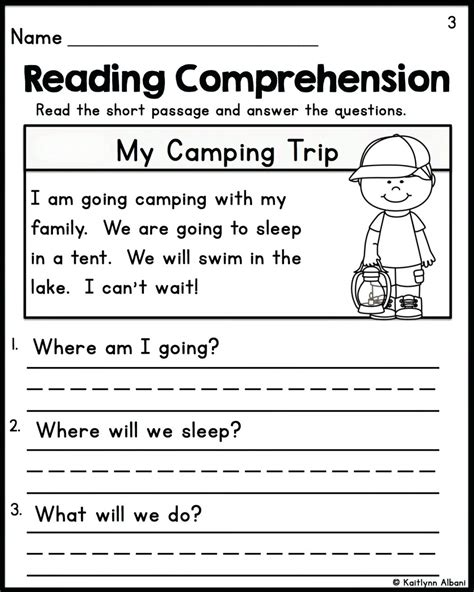 worksheet year 1 reading comprehension worksheets