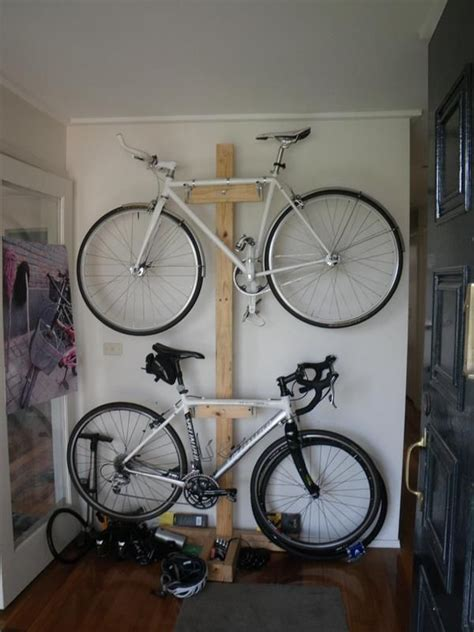 Garage Organization Ideas For Bikes by Don T Risk Your Bike Install An Indoor Bike Rack Simple