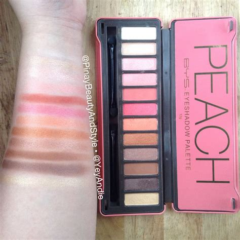 pinay beauty  style bys peach palette review