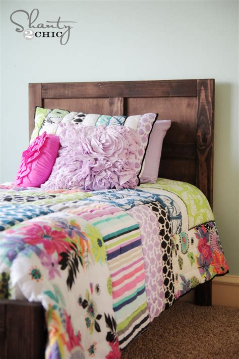 diy bed pottery barn inspired shanty  chic