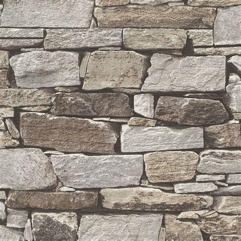 brown slate stone matt wallpaper departments diy