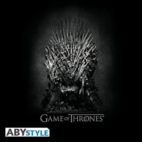 game  thrones  shirt trone de fer abystyle