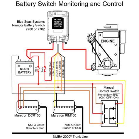 maretron intermediate battery switch monitoring