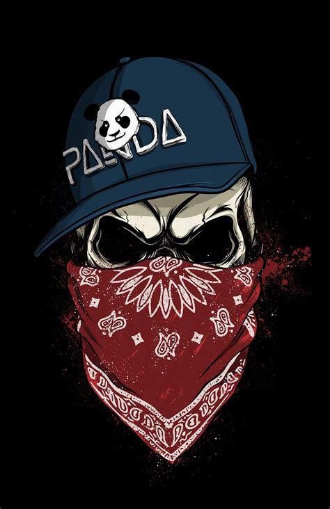 Skullpanda On Behance  Murals  Pinterest Panda