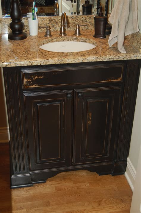 distressed black kitchen cabinets cabinet refinishing luxe walls 6779