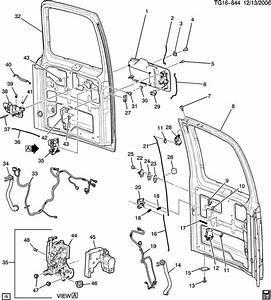 2005 Chevrolet Express Rod  Door Remote Lock  End Gate