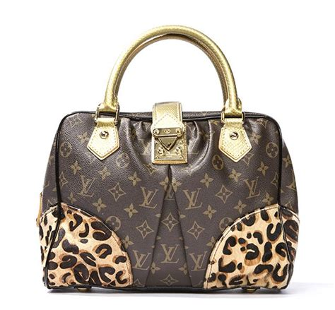 louis vuitton monogram leopard canvas adele  ed stephen