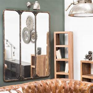 Maison Du Monde Miroir : miroir triple en m tal noir h 159 cm titouan maisons du monde ~ Teatrodelosmanantiales.com Idées de Décoration