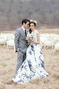 7 most beautiful floral wedding dresses ever vowslovecom With patterned wedding dress