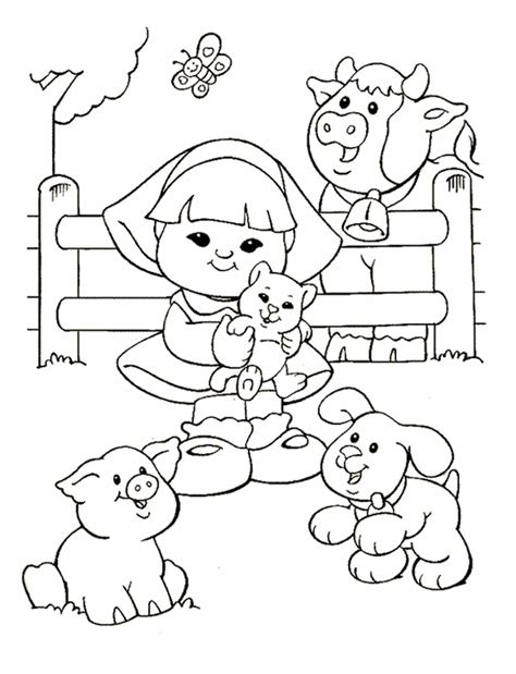 fisher price  people coloring pages az coloring pages