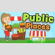 Public Places In English  Shops And Services Vocabulary Youtube