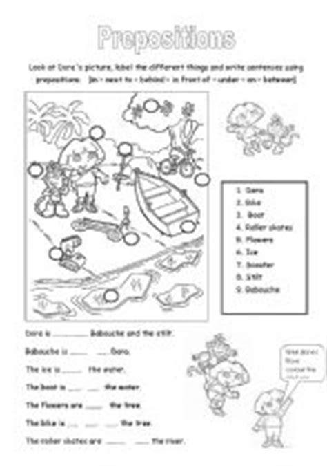 esl kids worksheets prepositions label  picture