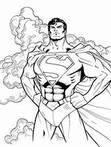 Coloring Pages Steel Superman Getcoloringpages sketch template