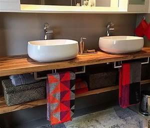 Möbel Für Aufsatzwaschbecken : waschtischplatte aus holz waschtischkonsole waschtisch waschtischplatte aus massivholz kosole ~ Markanthonyermac.com Haus und Dekorationen