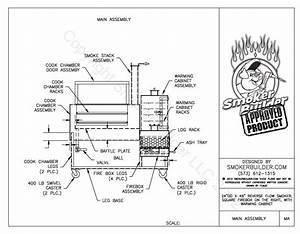 Bbq Smoker Schematic : 24 by 46 sq firebox right side w warming cab and ~ A.2002-acura-tl-radio.info Haus und Dekorationen