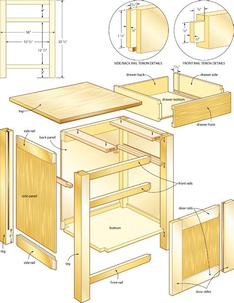 plans  build wood plans night stand  plans