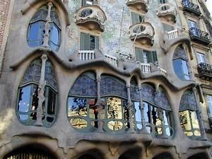Barcelona, Spain: Casa Batllo: facade (1904-1907 ...