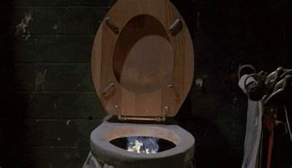 Toilet Fire Ghoulies Bathroom Animated Funny Gifs