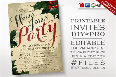 20+ Christmas Invitation Templates Inside Christmas Decorations Easy Cupcake Decorating Ideas Tree Decoration For Kids Wedding Reception Unique Outdoor Window Uk Traditional Greek Angels