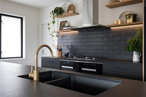matt black dekton selected for modern kitchen eboss