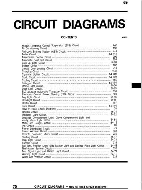 mitsubishi galant circuit diagram pdf electronic
