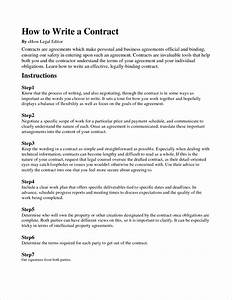 4 how to write a contract agreementreport template for How to write a business contract letter