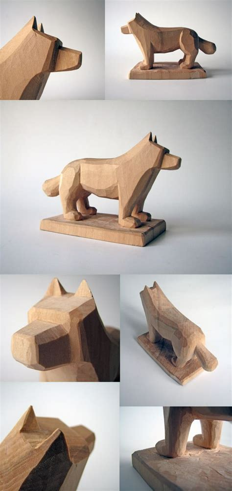 dog woodcarving  juozas urbonavicius  behance wood