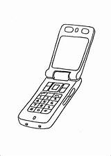 Phone Cell Coloring Open Technology Office Printable sketch template