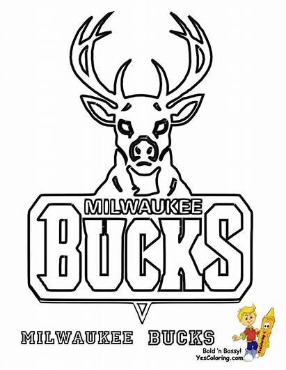 Coloring Nba Basketball Bucks Lakers Buck Milwaukee