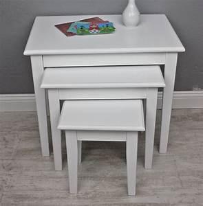 Beistelltisch Weiß Holz : beistelltisch 3er set wei holz ~ Markanthonyermac.com Haus und Dekorationen